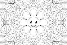 colouring or pattern pages