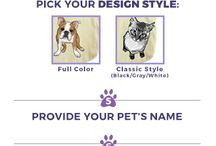 Custom Pet Tote Bags / Find all of our custom pet tote bag designs on our Pinterest Board
