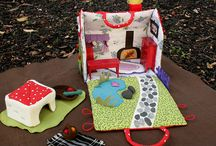 Fabric Doll house's