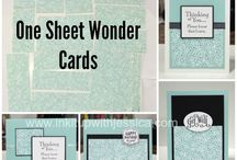 One sheet wonder ideas