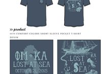 Nautical / Greek sorority and fraternity custom shirt designs featuring nautical themes. For more information on screen printing or to get a proof for your next shirt order, visit www.jcgapparel.com