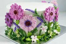 dorty krém kytky