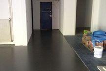 Aanleg van egalisatie en coating vloer / Aanleg van egalisatie en coating vloer
