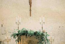 Wedding church altar decor