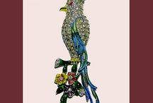 FAVORITE FIGURALS / Animal brooches, pins, earrings. All types of vintage animal theme jewelry.