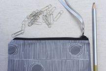 Handmade zipper pouches