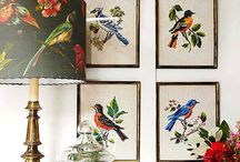 "The  ""birds"" effect / Birds in home decoration, fabrics, furniture, art & everyday objects..."