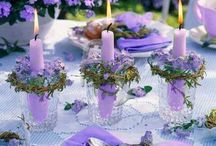 Svatební výzdoba - fialová