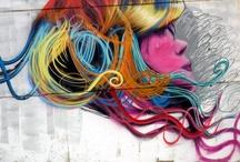 Graffiti y arte callejero / En el lenguaje común, el grafiti incluye lo que también se llama pintadas: el resultado de pintar en las paredes, frecuentemente de contenido político o social, con o sin el permiso del dueño del inmueble. Hoy en día el graffiti es un arte que vale la pena ser destacado. Ejemplos a continuación. / by Pablo Sarmiento Polo