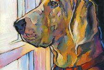 Dogs - Art / Schilderijen van Honden