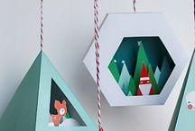 3d hanging ornaments