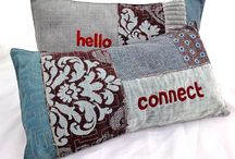 CUSHIONS by molo mimi / Free Stitch Cushions made from swatch books