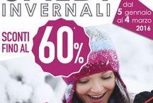 SALDI INVERNALI / SCONTI FINO AL 60%