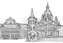 город хельсинки-рисунок