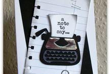 kaarten typewriter