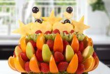 Meyve Çiçekleri / Sepet dolusu taze meyveler...