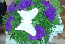 Virág csokraim krepp papírból