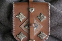 Pouches, Bags and Girdle Books / Pouches, bags, purses and girdle books -- historical inspiration. / by Lorraine McKee