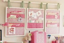 sewing room / by Emmaline Bags & Patterns