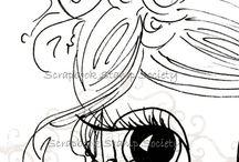 big eyed sketch