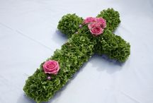 Flowers on cross