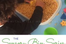 Sensory Play / A collection of my favorite sensory bin ideas!