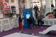 Interaktywne kąciki dla dzieci w centrum handlowym / Interaktywna rozrywka w centrum handlowym