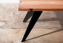 Luxe industrial dining tables