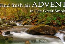 Outdoor Recreation in the Great Smoky Mountains / Hiking, white water rafting, zip-lines, mountain coasters, skiing, biking, auto tours, and more! It's all here in the Great Smoky Mountains!
