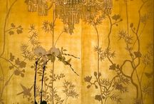 Gold leaf decorations of interiors