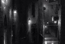 miasto w deszczu