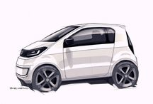 Compact Car Sketch