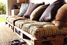 Dekorasyon:Ahşap / Harika fikirler / Palet, meyve-sebze sandıkları, eski ahşap mobilyalarınızı değerlendirin.