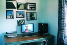 Simplicity & Order... / Anybody can have a workspace filled with new tech items. To be different and stand out try to make your work space more personal by adding some vintage office items... Home Offices...