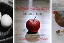 Simple Saturdays Blog Hop / We're sharing how we live our lives in more self-sufficient and simple ways every Saturday, come join us!