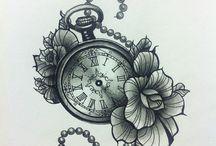 Pocket clock tattoos