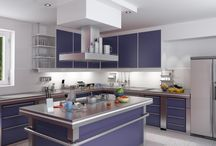 Colorful Cabinets / Be bold with hues in your home