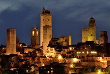 San Geminiano en Italië / mooie stad in Toscane