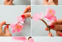 Diseño oriental arreglos florales SAKURA , IKEBANA KOKEDAMA