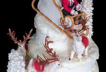 torte natalizie / torte decorate in pasta di zucchero dedicate al Natale