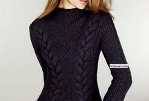 свитер жен. спицами