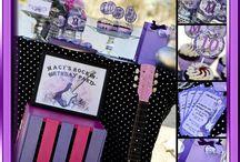 Glam Rock Pink and Purple Guitar Birthday