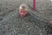 My little bro under rocks / Yeah freedom run but he is so cute