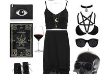Witch black goth