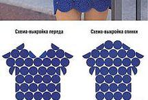 sukienki i bluzki szydelkowe