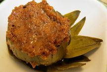 STUFFED ARTICHOKES  gluten free / Kitchen Wisdom Gluten Free Stuffed Artichokes Recipe  http://kitchenwisdomglutenfree.com/2014/01/30/stuffed-artichokes-gluten-free-forget-what-you-know-about-wheatc-2014-2/