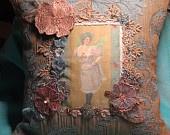 """http://www.etsy.com/shop/EmbellishedElegance / vintage handmade """"one of a kind"""" pillows."""