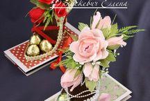 конфетные букеты-шокобоксы