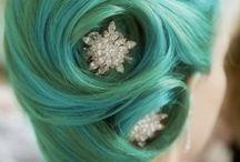 Hair green
