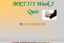MKT 571 Week 2 Quiz